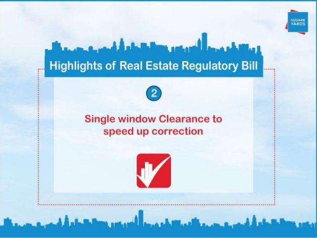 Real Estate Regulatory Bill: Amendments and Highlights Slide 3