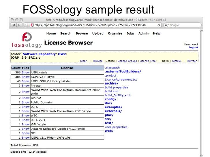 Fossology, OW2con11, Nov 24-25, Paris