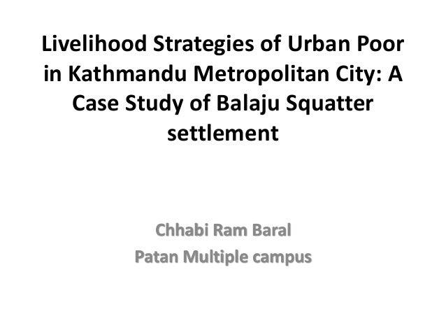 Squatters livelihood in_urban__kathmandu_nepal