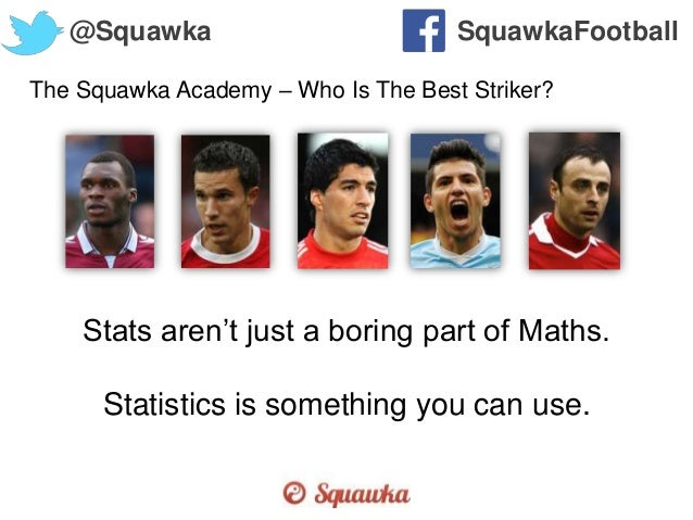 The Squawka Academy – Who Is The Best Striker? @Squawka SquawkaFootball Stats aren't just a boring part of Maths. Statisti...