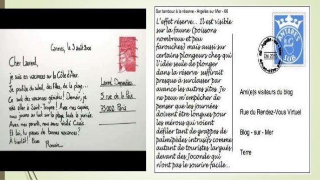 exemple de carte postale pour des amis Séquence de classe en