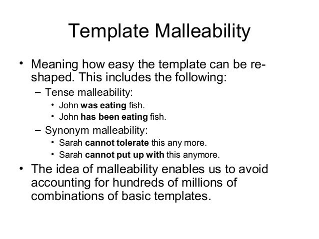 templates in linguistics why garbage garbage