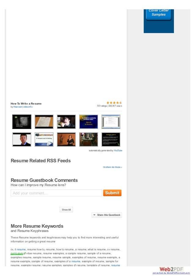 youtube resume examples
