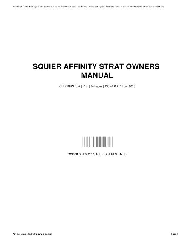 squier affinity strat owners manual rh slideshare net squier stratocaster manual pdf squier affinity stratocaster manual