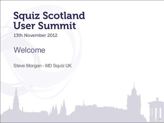 WelcomeSteve Morgan - MD Squiz UK                             >   1