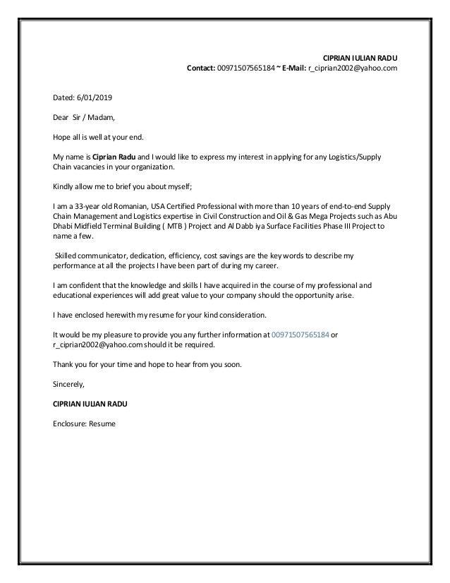 Sr Logistics Officer Resume