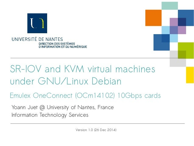 SR-IOV, KVM and Emulex OneConnect 10Gbps cards on Debian/Stable