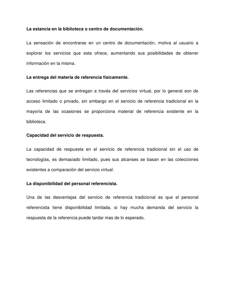 ASPECTOS NO TECNOLÓGICOS QUE DIFERENCIAN AL SERVICIO DE REFERENCIA TRADICIONAL DEL VIRTUAL. Slide 3