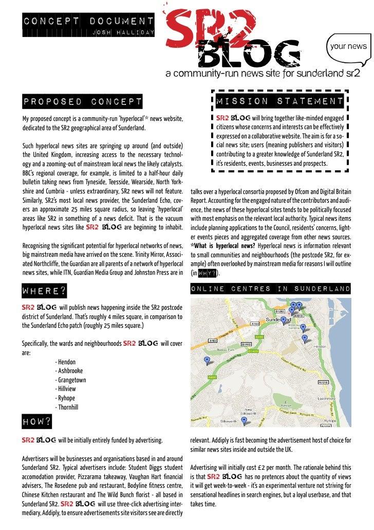 Concept document                                Josh halliday                                                             ...