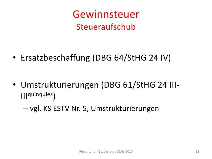 Betriebsstätte</li></ul> beschränkt (DBG 52 II)<br />