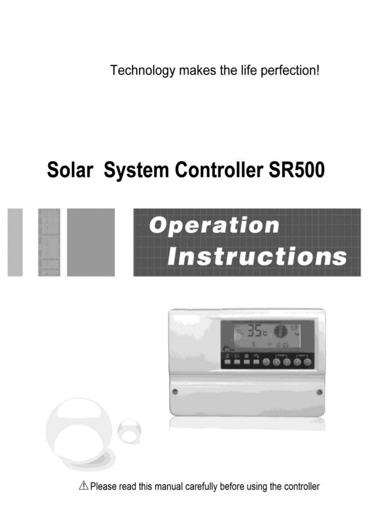 Operation manual of solar water controller SR500--------------------------------------------------------------------------...