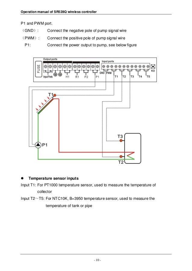 sr528q wireless solar controller for split solar water heating system rh slideshare net Solar Panel Wiring Diagram Schematic Solar Electric Systems