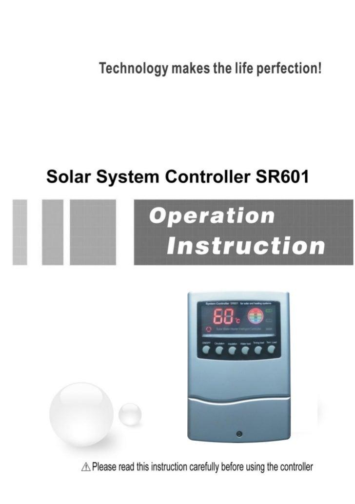 SR601En Solar Water Heater Controller for Compact Non