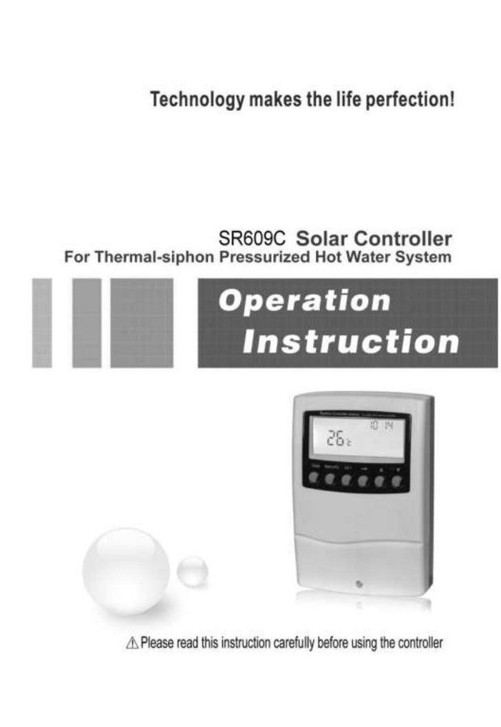 SR609C Compact Solar Water Heater Controller