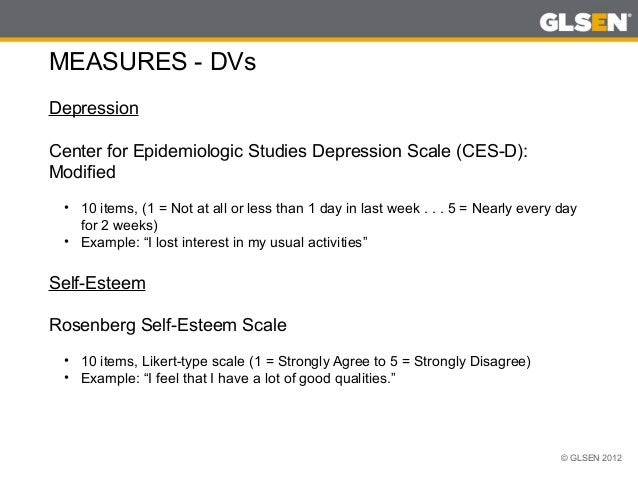 Center for Epidemiological Studies Depression Scale for ...