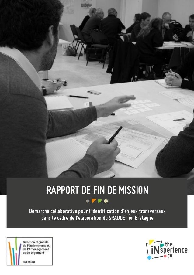 RAPPORT DE FIN DE MISSION Démarche collaborative pour l'identification d'enjeux transversaux dans le cadre de l'élaboratio...
