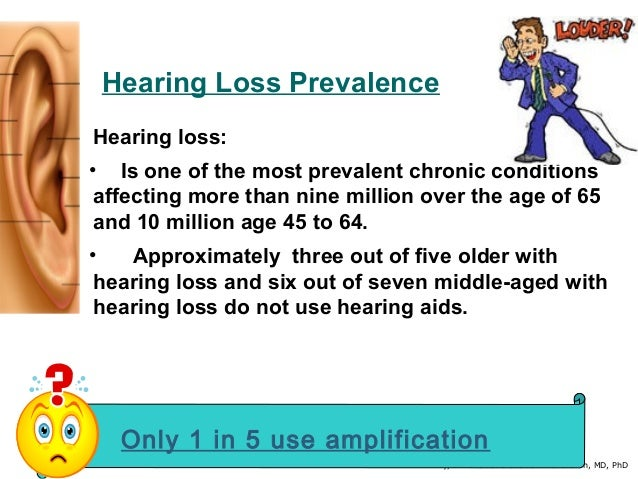By, Dr. Shamanthakamani Narendran, MD, PhD Hearing Loss Prevalence Hearing loss: • Is one of the most prevalent chronic co...