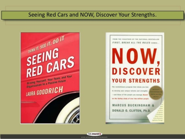Seeing Red Cars and NOW, Discover Your Strengths.
