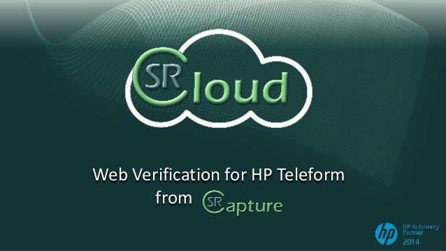 Web Verification for HP Teleform from
