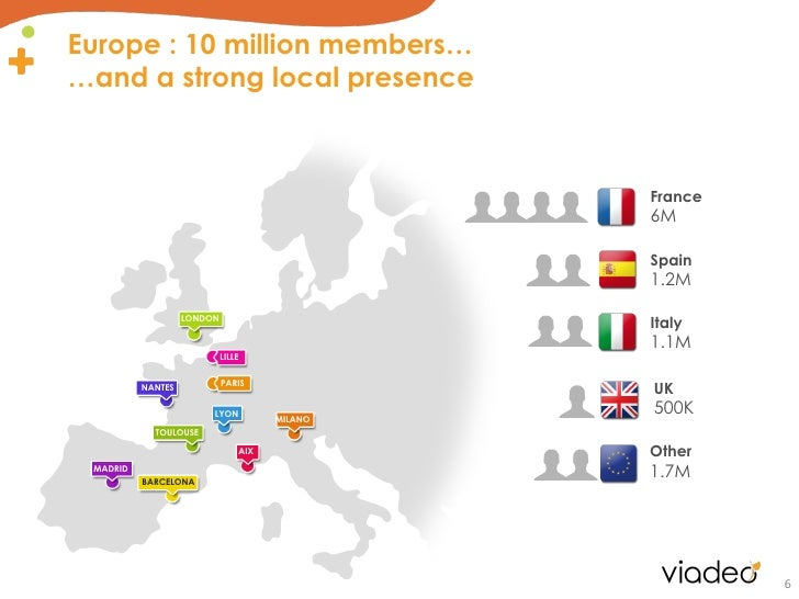 Europe : 10 million members……and a strong local presence                                               France             ...