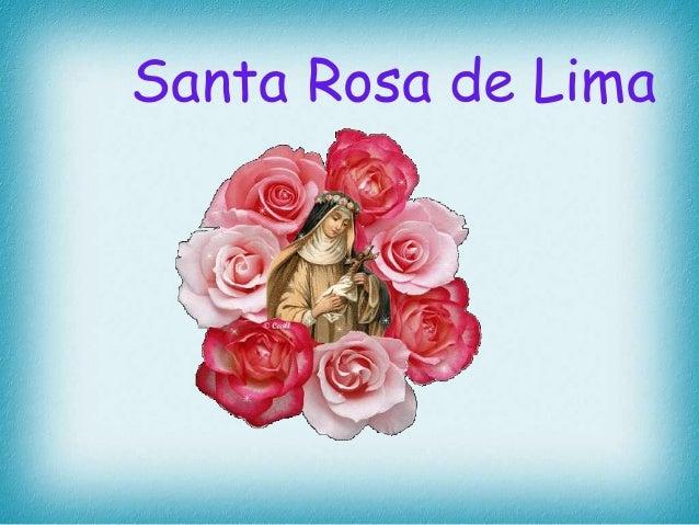 Santa Rosa de  Lima  Santa de Lima