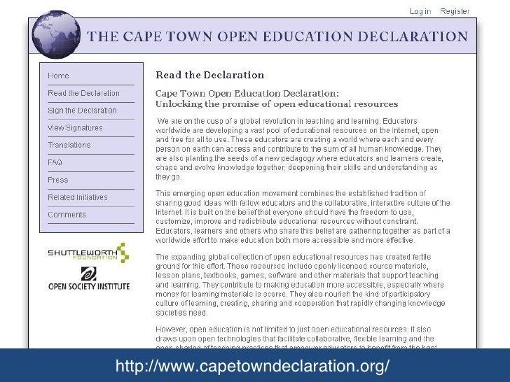 http://www.capetowndeclaration.org/