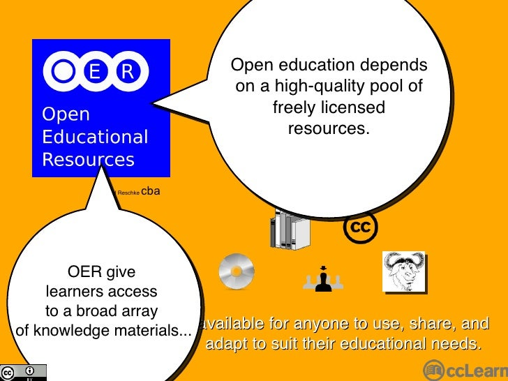 available for anyone to use, share, and adapt to suit their educational needs. Michael Reschke  cba Open education depends...