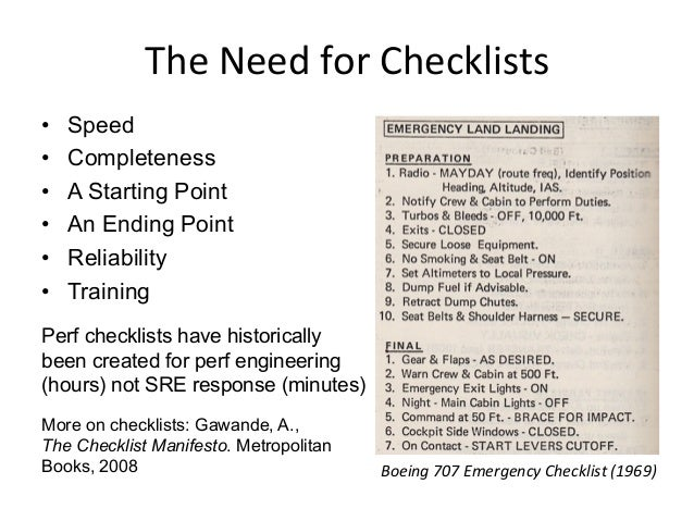 SRE  Checklists  at  NeSlix   • Some shared docs – PRE Triage Methodology – go/triage: a checklist of dashboard...
