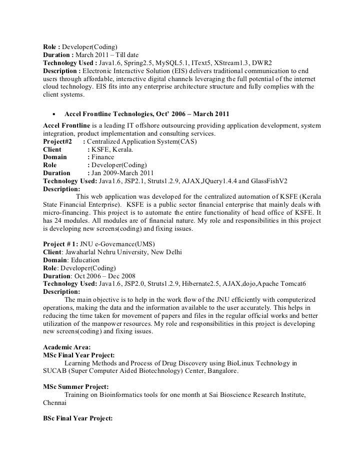 Sreejith Sr.Software Engineer Java J2 Ee 4 Years Slide 2