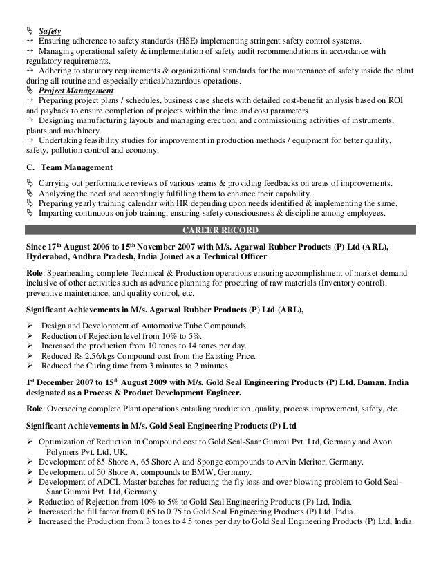 2 - Polymer Engineer Sample Resume