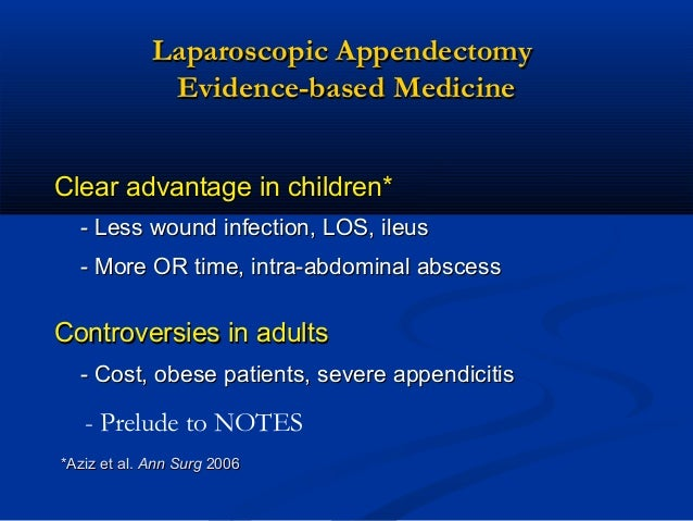 recovery time appendectomy adults