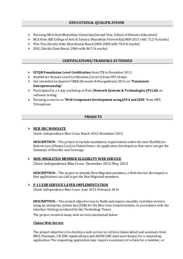software tester resume