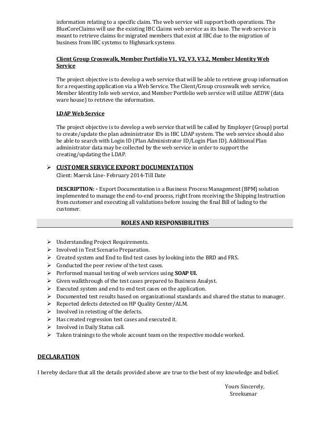 resume cover letter for software testing