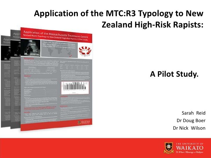 Application of the MTC:R3 Typology to New Zealand High-Risk Rapists: <br />A Pilot Study.<br />Sarah  Reid<br />Dr Doug Bo...