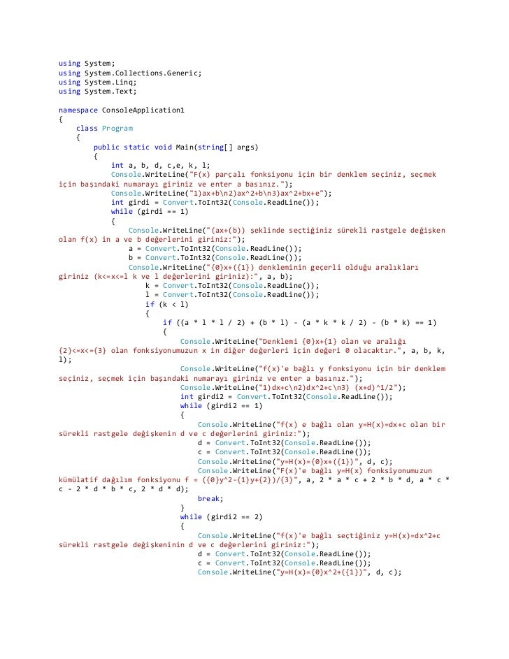 using   System;using   System.Collections.Generic;using   System.Linq;using   System.Text;namespace ConsoleApplication1{  ...