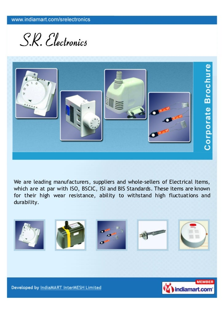 S. R. Electronics, Faridabad, Electrical Products