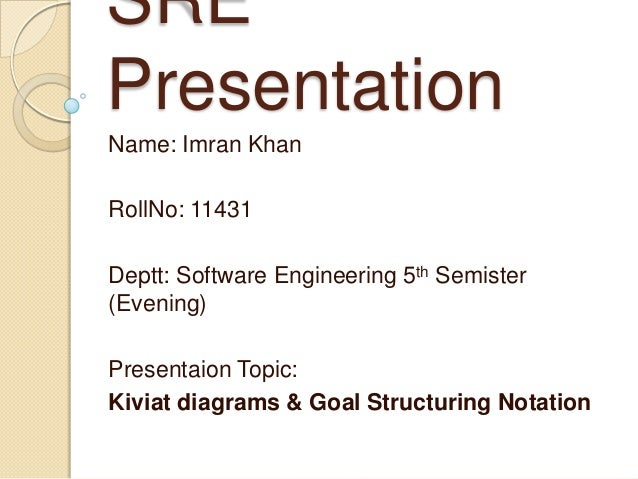 Kiviat diagrams goal structuring notation sre presentation name imran khan rollno 11431 deptt software engineering 5th semister 1 kiviat diagrams kiviat ccuart Choice Image