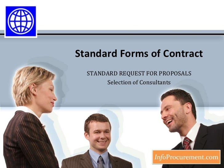 Standard Forms of Contract<br />STANDARD REQUEST FOR PROPOSALS<br />Selection of Consultants<br />