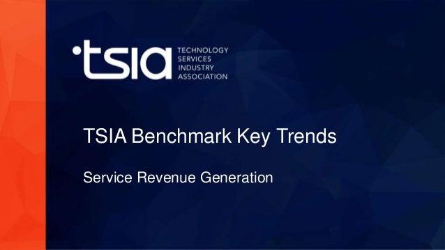 www.tsia.com TSIA Benchmark Key Trends Service Revenue Generation