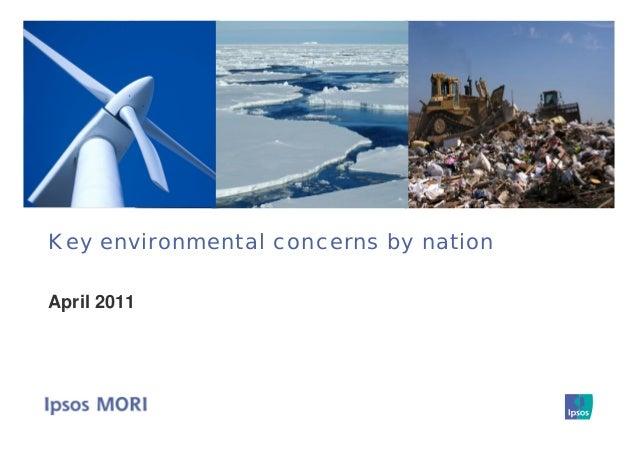 Key environmental concerns by nation April 2011