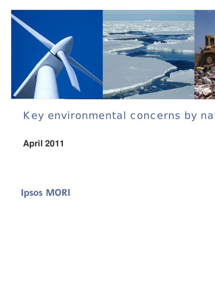 Key environmental concerns by nationApril 2011