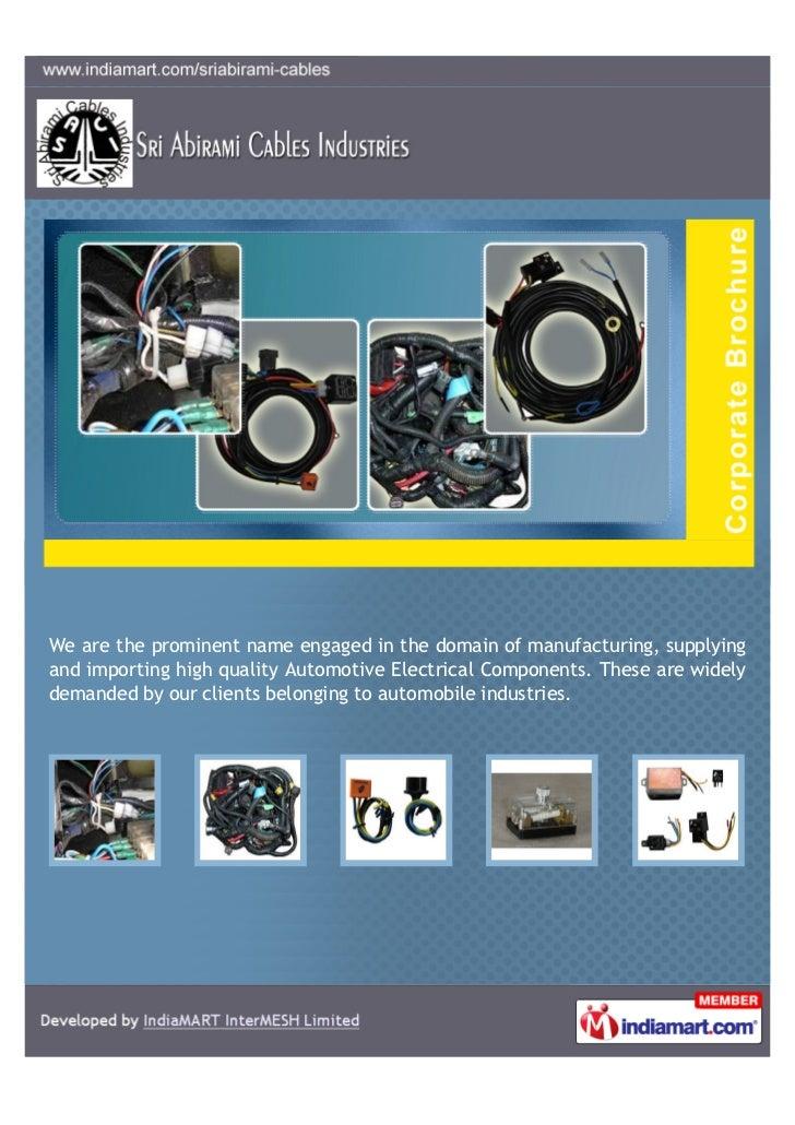 Sri Abirami Cables Industries, Hosur, Automotive Electrical