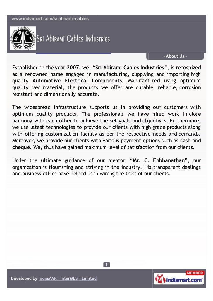 sri abirami cables industries hosur automotive electrical component 2 728?cb=1329354070 sri abirami cables industries, hosur, automotive electrical component