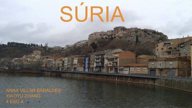 SÚRIA  ANNA VILLAR BARALDÉS XIAOYU ZHANG 4 ESO A