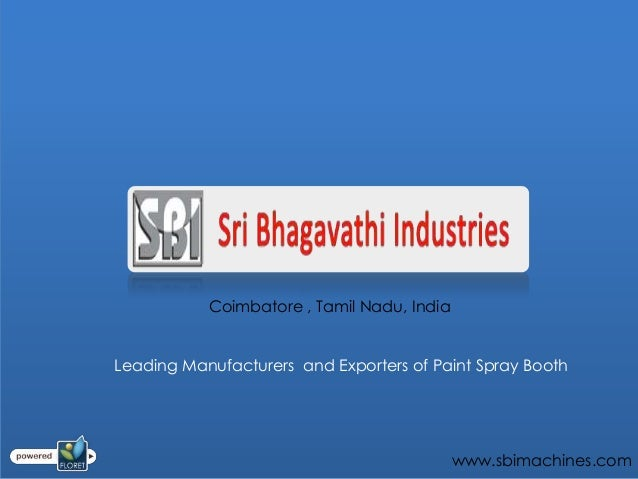 Coimbatore , Tamil Nadu, IndiaLeading Manufacturers and Exporters of Paint Spray Booth                                    ...