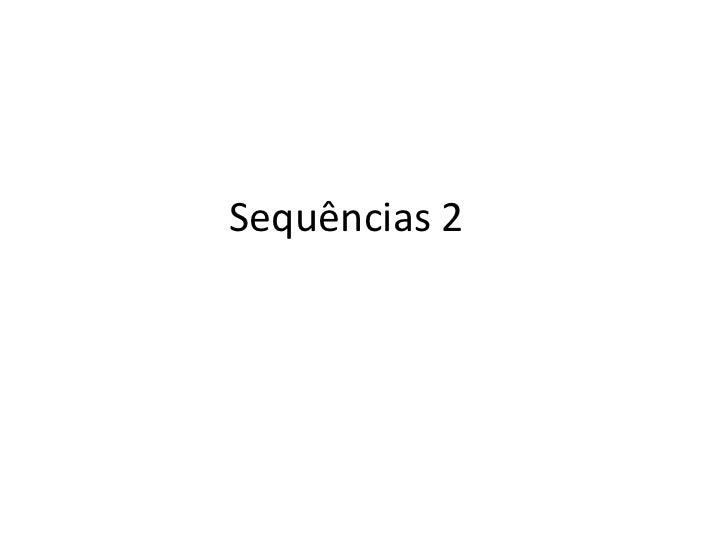Sequências 2