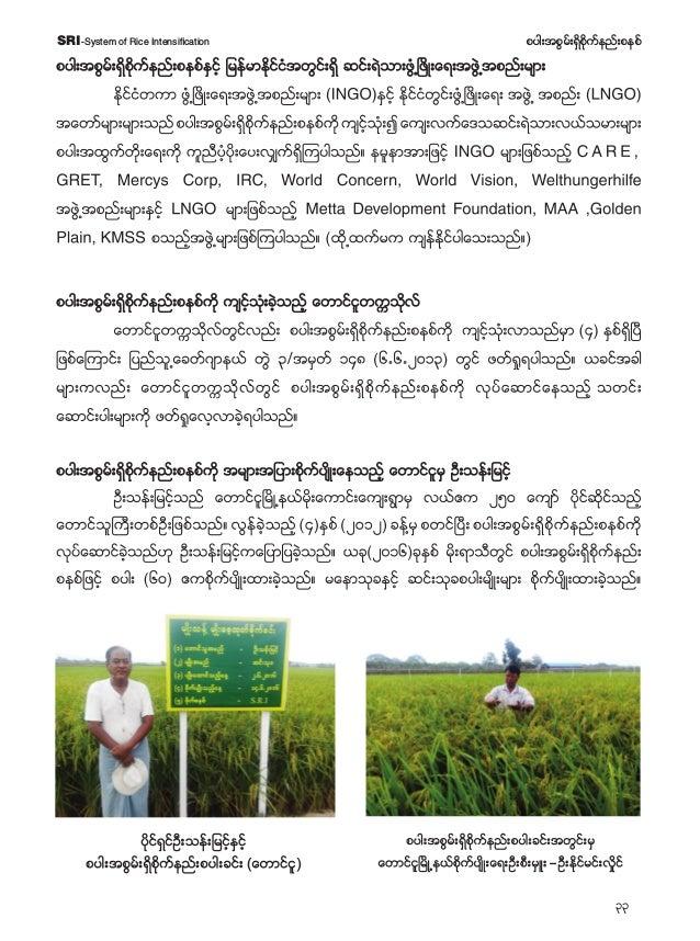 34 pyg;tpGrf;&Sdpdkufenf;pepfSRI-System of Rice Intensification