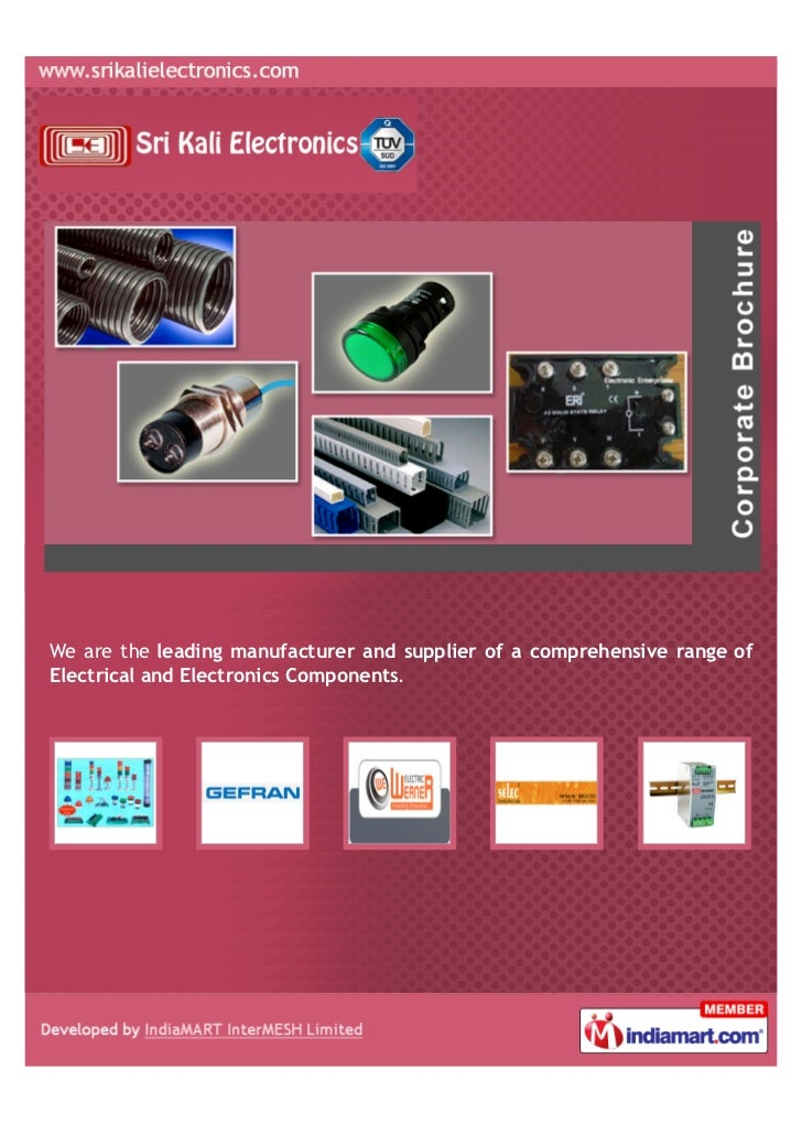 We are the leading manufacturer and supplier of a comprehensive range ofElectrical and Electronics Components.