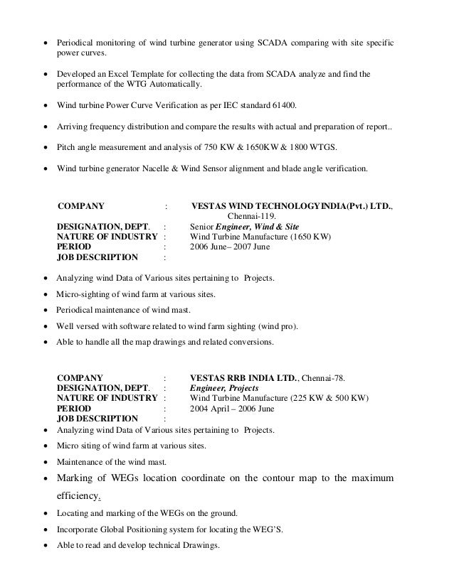 Fine Vestas Wind Energy Resume Photo - Administrative Officer Cover ...