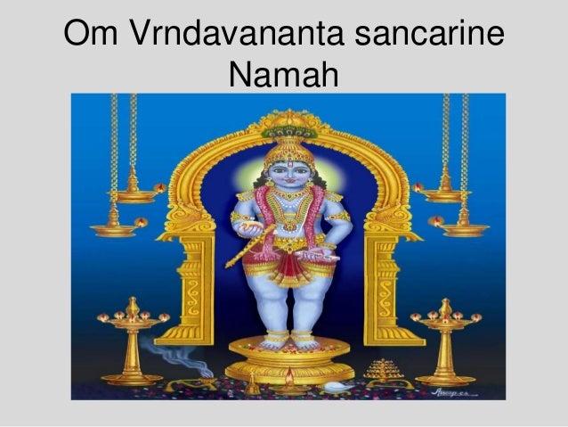 Om Vrndavananta sancarine Namah